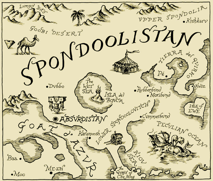 SPONDOOLISTAN MAP